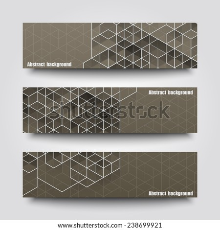 set of banner templates with