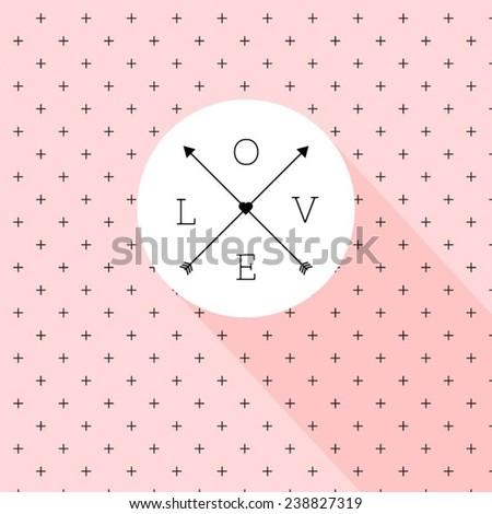 vector love sign