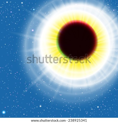 sun eclipse vector