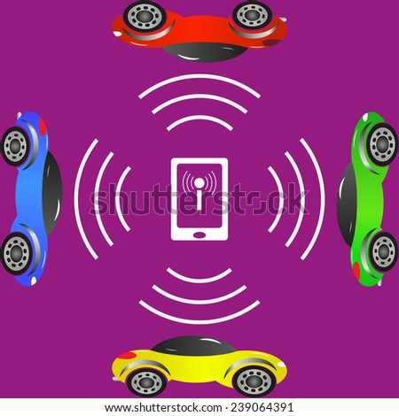 cars on the wi fi control via