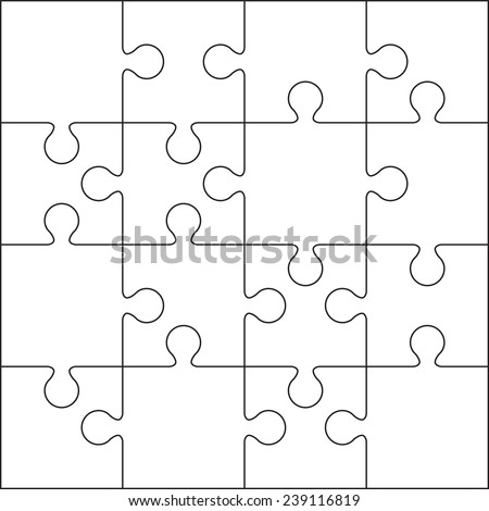 Jigsaw Puzzle Outline Blank Free Vector Download  Free Vector