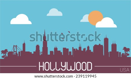 hollywood usa skyline