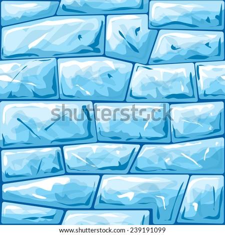 vector illustration of blue ice