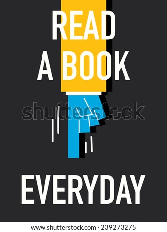 words read a book everyday