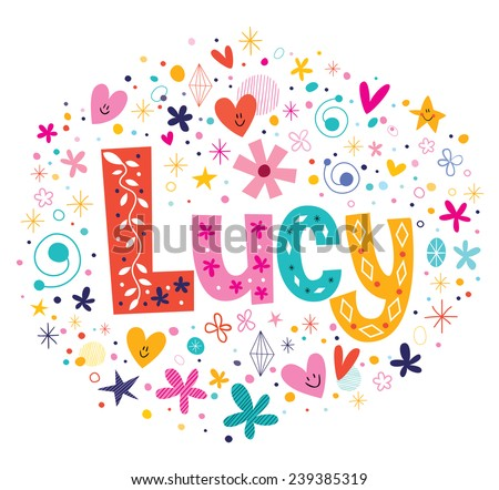 lucy female name decorative
