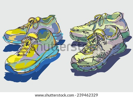 two images of a pair of shoes