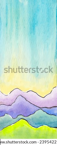 vector watercolor abstract