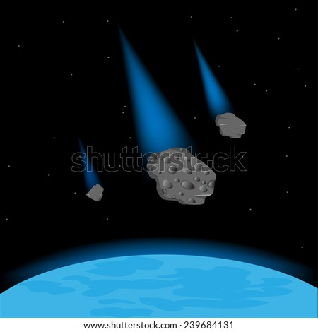vector illustration meteorite