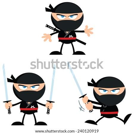 ninja warrior with katana