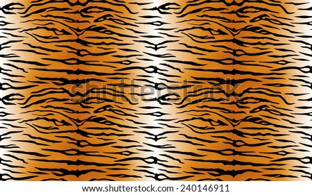 tiger vector skin orange