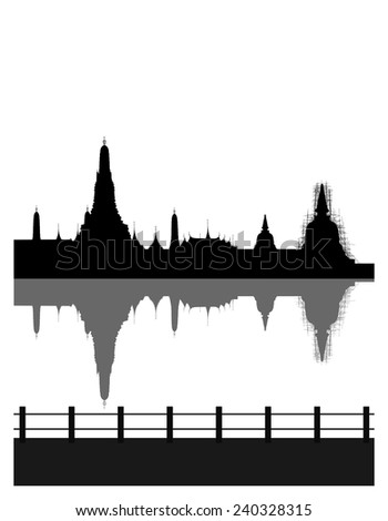 silhouetted of wat arun
