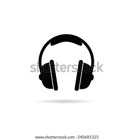 headphones black and white