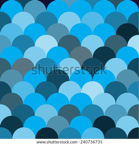 blue circle pattern vector