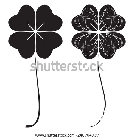 set of two stylized images of