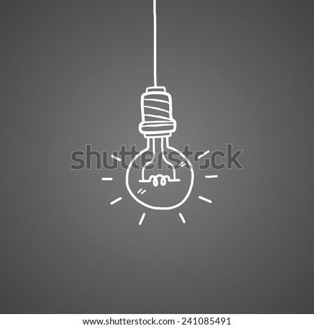 hand drawn light bulb isolate