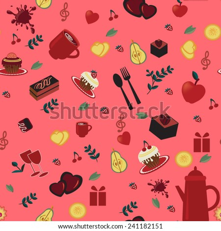 pink seamless pattern with
