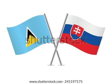saint lucia and slovakia flags