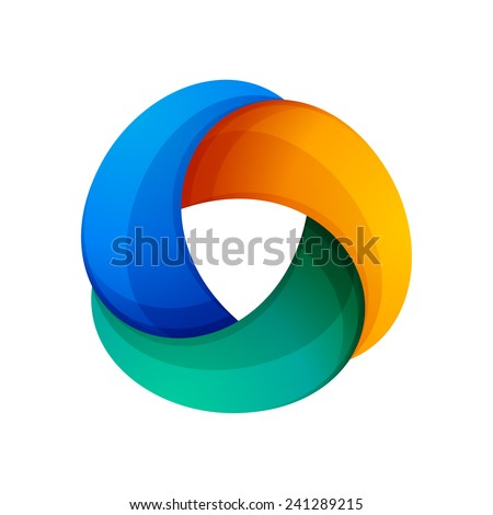 abstract vector logo 3 volume