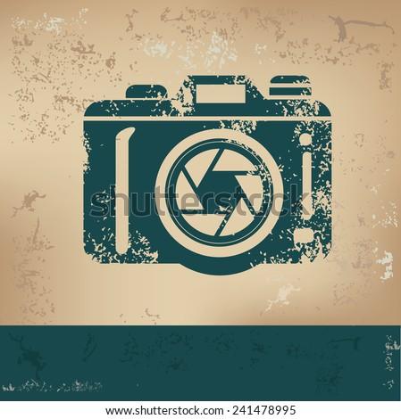 camera design on old paper