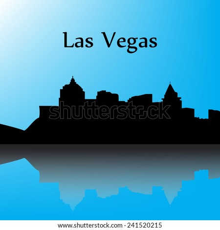 las vegas contour of the city