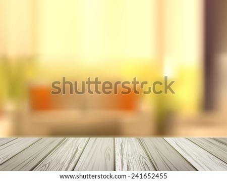 close up look at wooden desk