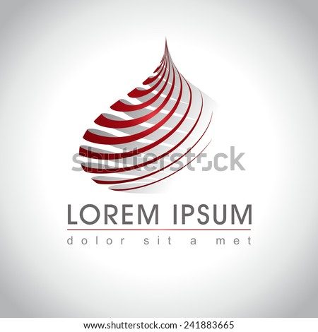 abstract logo sample  vector