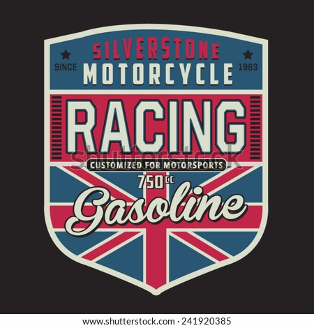 motorcycle british  typography