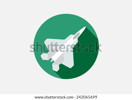 aircraft or airplane icon flat