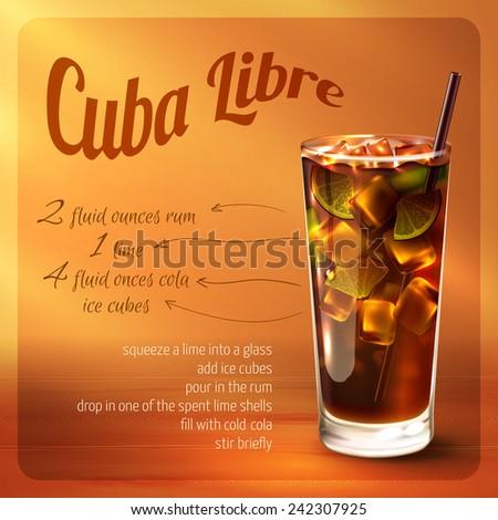 cuba libre cocktail recipe with