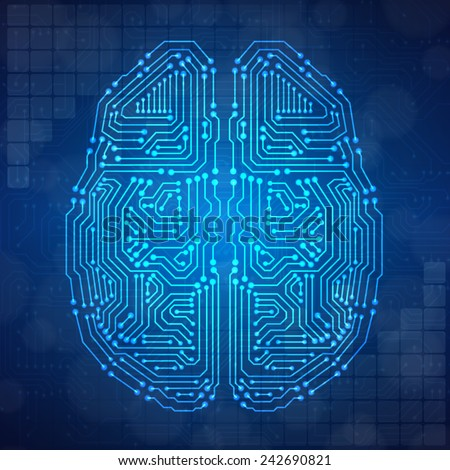brain with circuit board