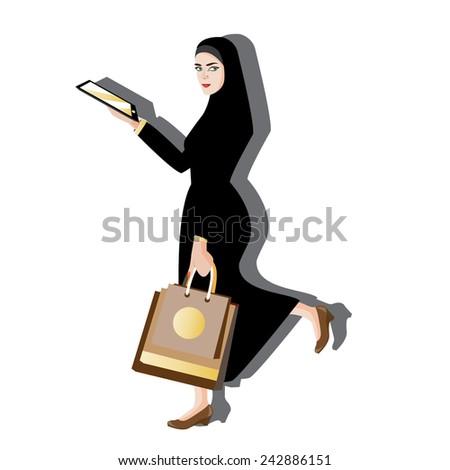 illustration woman muslim