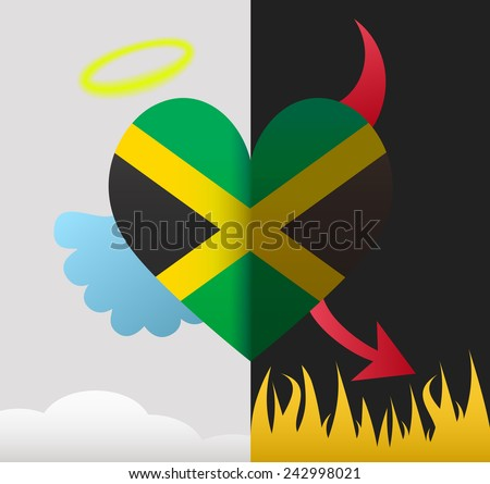 jamaica background of a heart