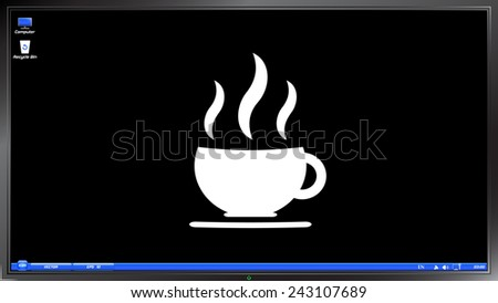 coffee cup icon tea cup on the
