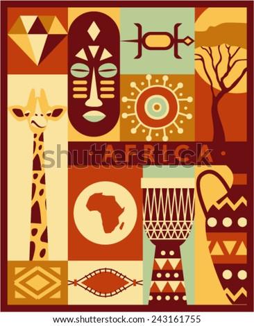 vector africa background