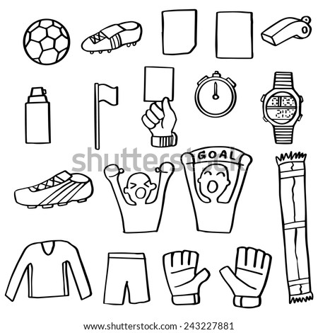 vector set of football icon