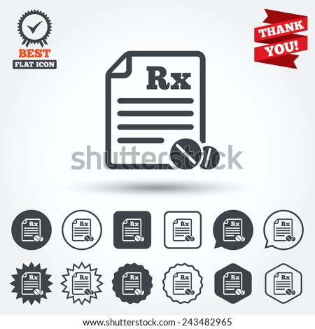medical prescription rx sign