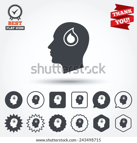 head with blood drop sign icon