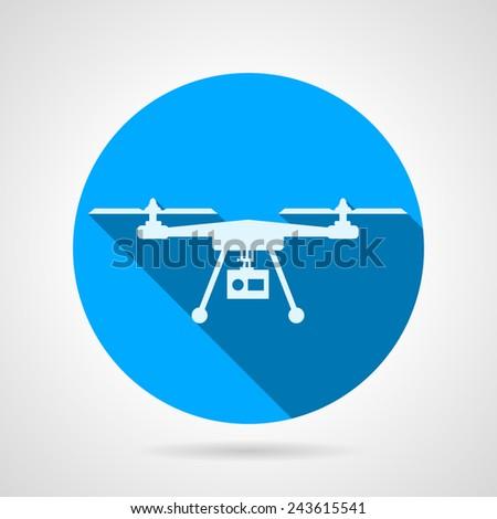quadrocopter sign flat vector
