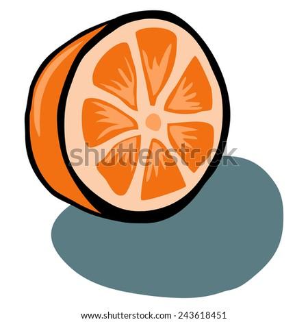 Orange Wedge clip art Free Vector / 4Vector