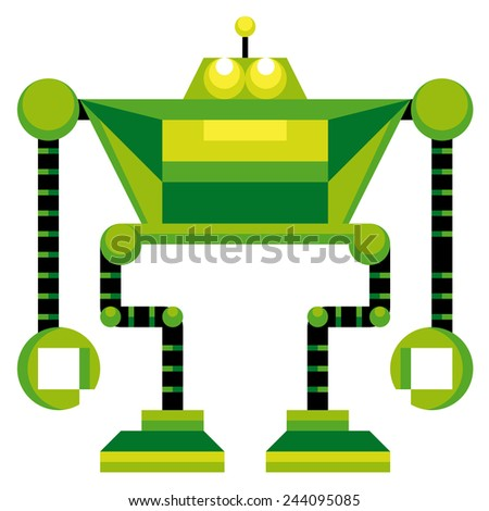 vector cartoon funny robot