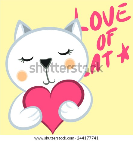 illustration vector of cute cat