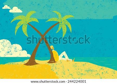 man on an island a man seated