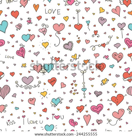 love vector seamless pattern