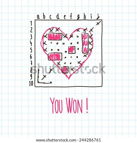 you won  sea fight valentine's