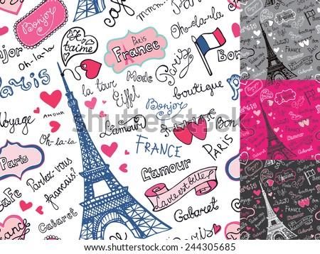 paris symbols lettering emblems