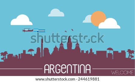 argentina skyline silhouette