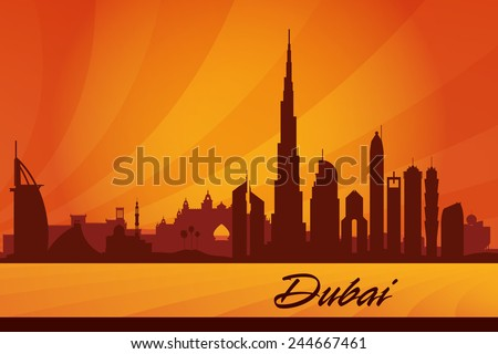 dubai city skyline silhouette