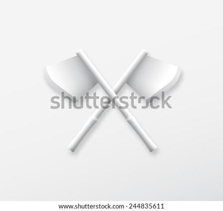 axe white flat raster buttons