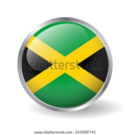 jamaica flag button vector