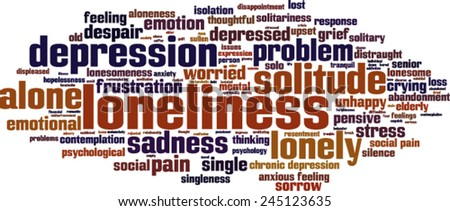 loneliness word cloud concept